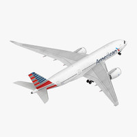 Airbus A350-800 American Airlines Rigged 3D Model