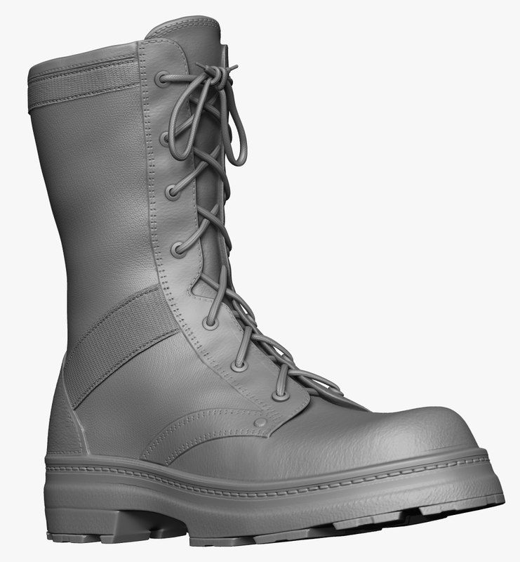 3d zbrush army boot