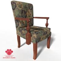 3d antique chair