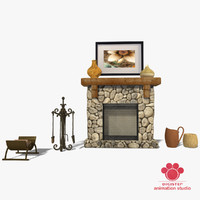 3d fireplace production