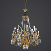 3d chandelier baccarat model