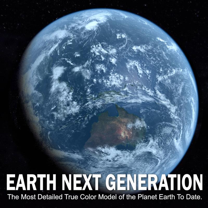 generation earth planet 3d model