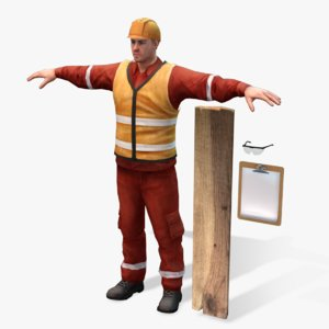 real-time worker 2 0 3d model