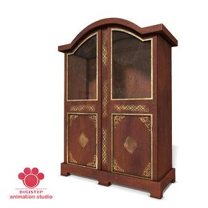 wood wooden bookcase 3d max