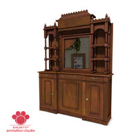 wooden sideboard 3d ma