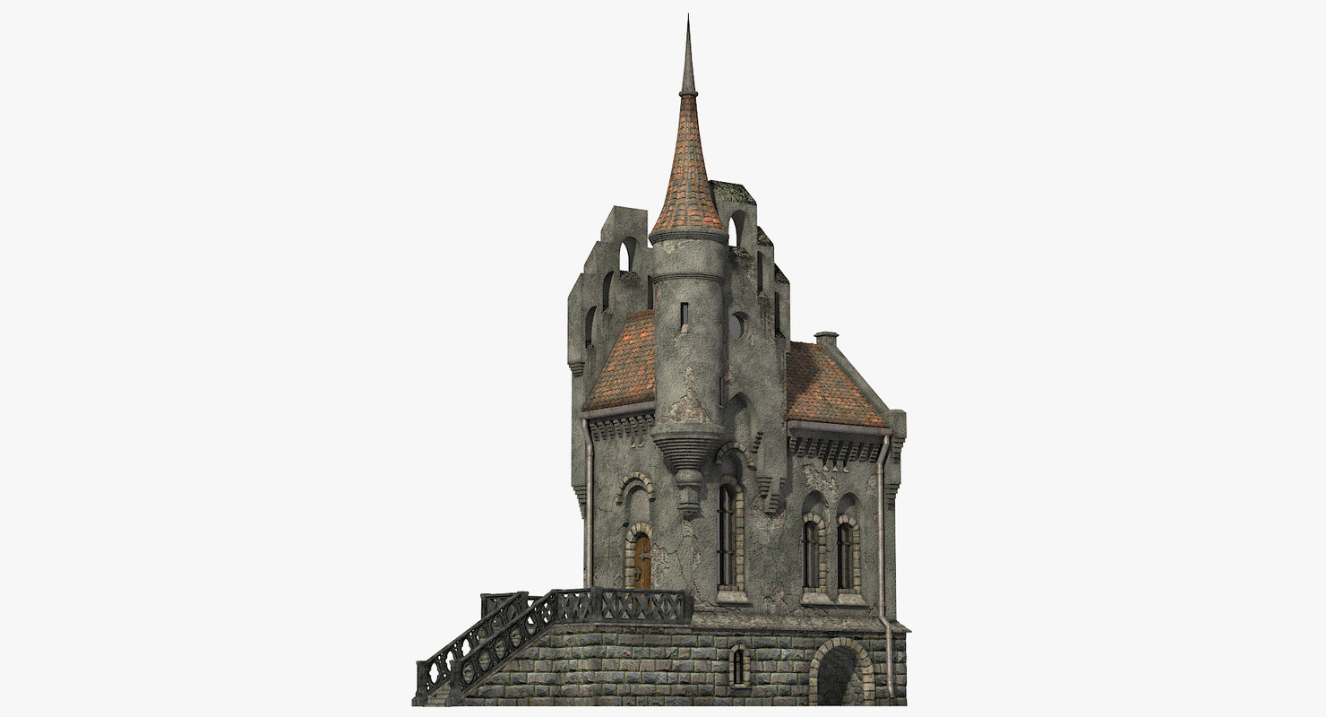 gothic house build 3d model