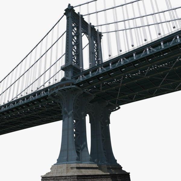manhattan bridge 3d c4d