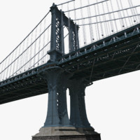 manhattan bridge 3d c4d