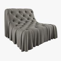 3d bohemian armchair busnelli model