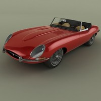 1962 e-type convertible mk1 3d 3ds