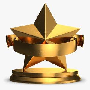 trophy star 1 3d model