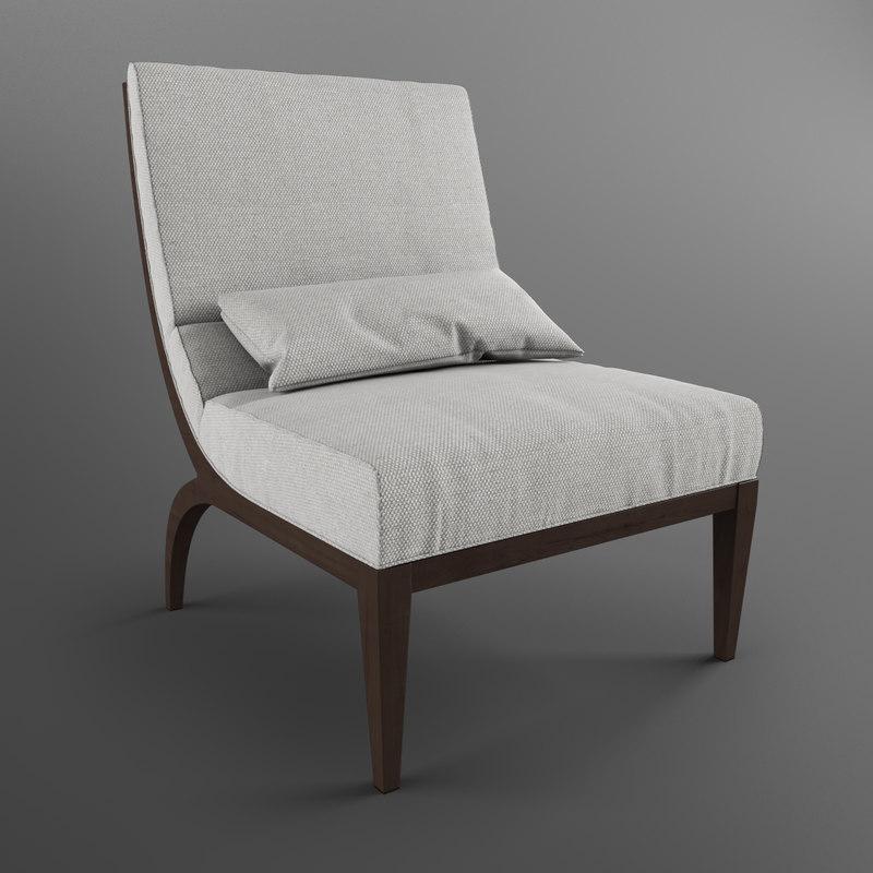 3d antony armchair opera contemporary model