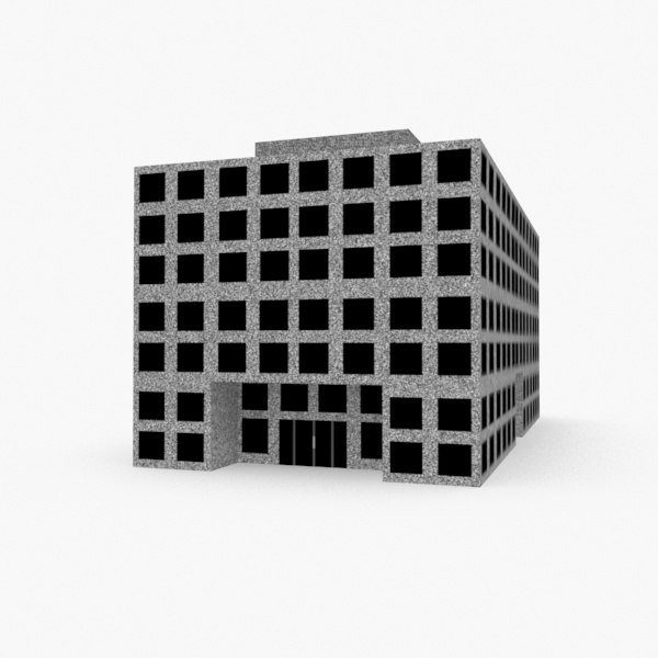 3d basic office building model