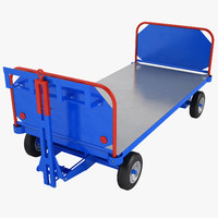 3D airport baggage cart model