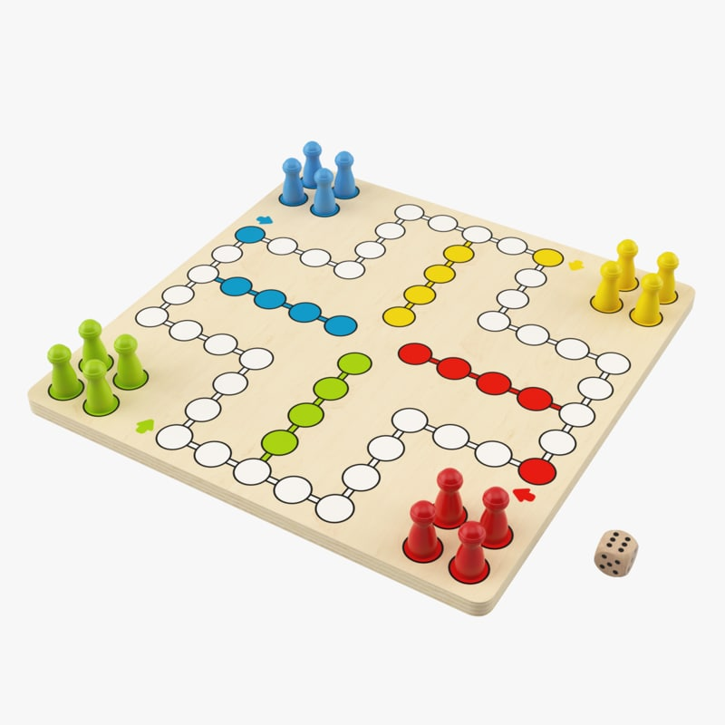 ludo wooden board 3d model