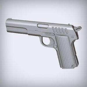 concept pistol 3D model