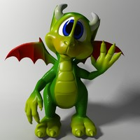 cute cartoon dragon rigged x