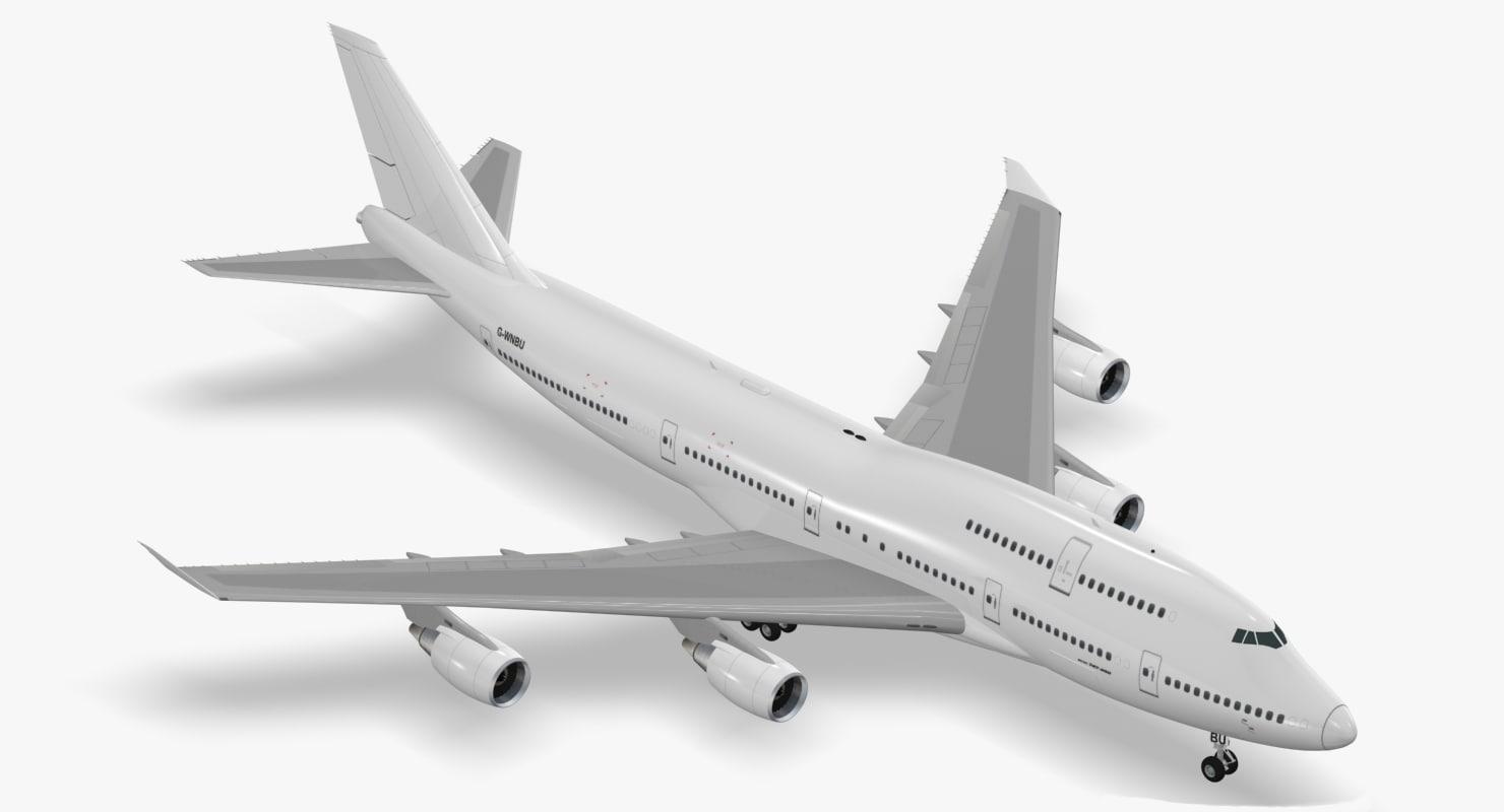boeing 747-400 obj