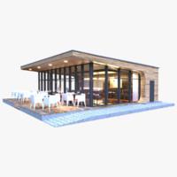 park cafe 3d max