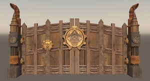 3d steampunk gate model