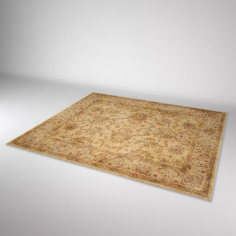 3d model of vintage classic carpet