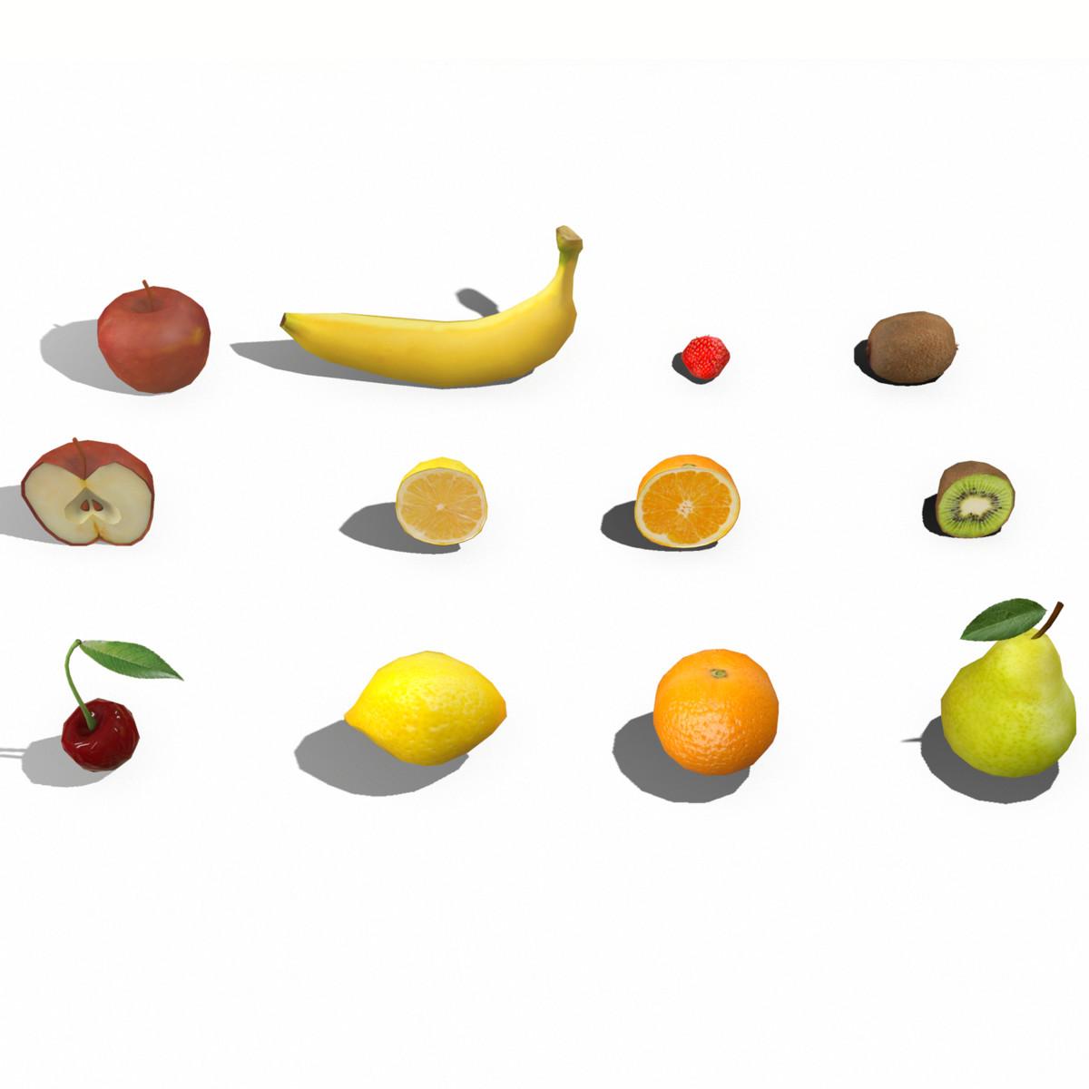 3D fruit apple