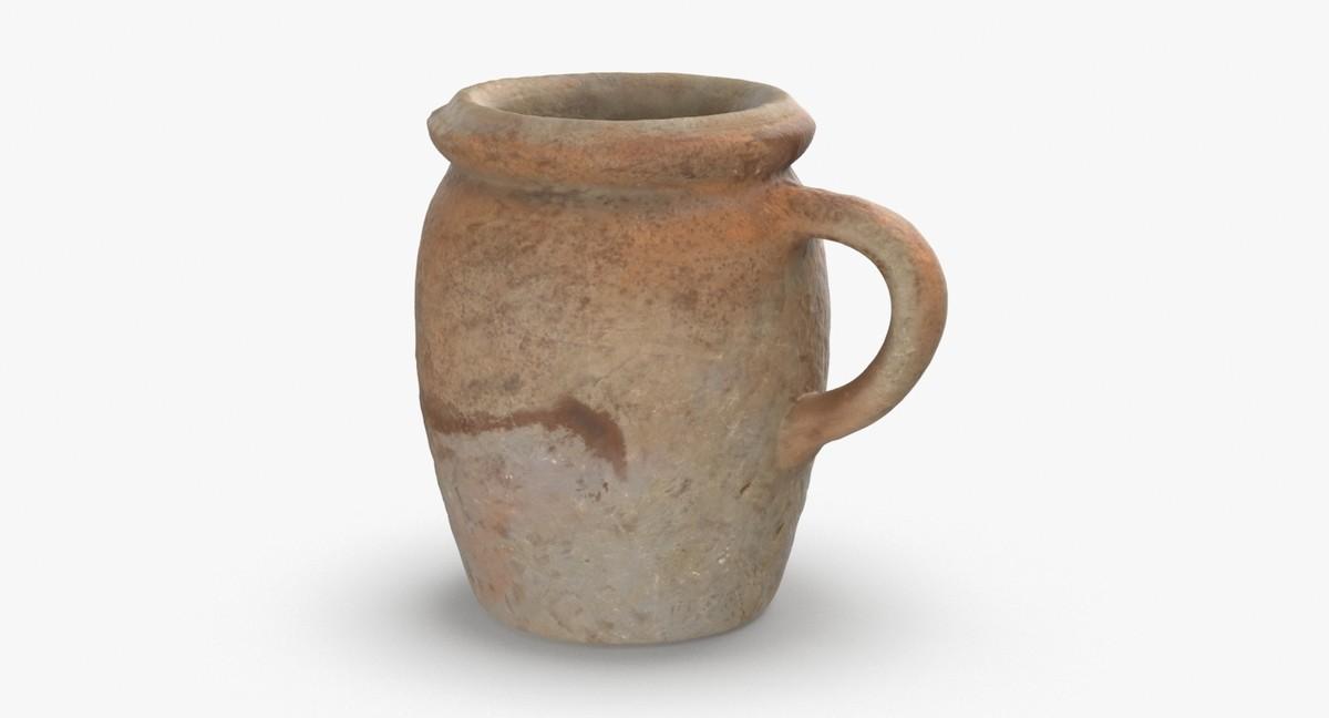 ceramic-mugs---tall-beige 3D model