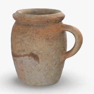 ceramic-mugs---tall-beige 3D model
