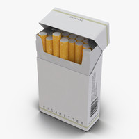 3d model opened cigarettes pack modeled