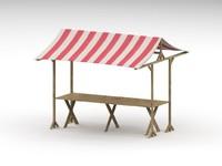 market tent 3d max