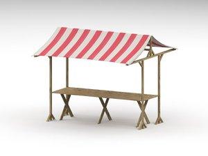 3d market tent