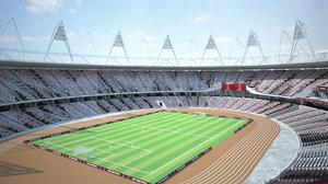 london olympic stadium 3D