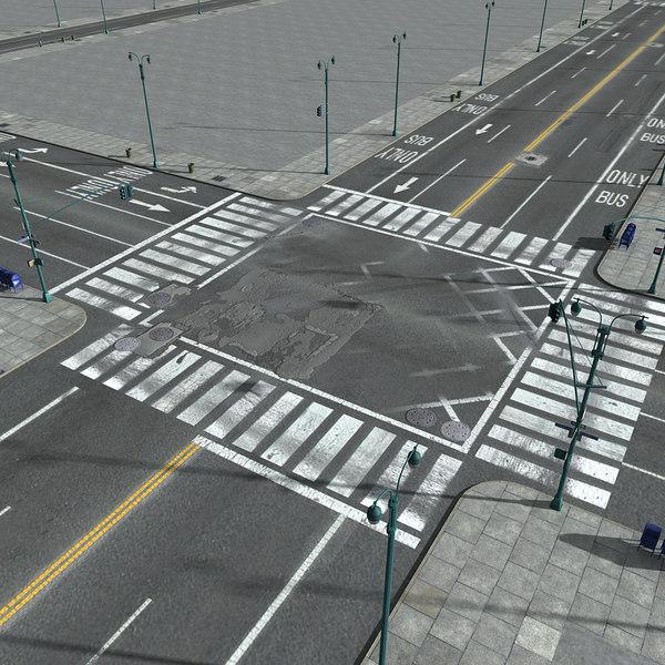 city new york streets 3D model