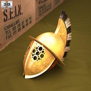 3D helmet gladiator thracian