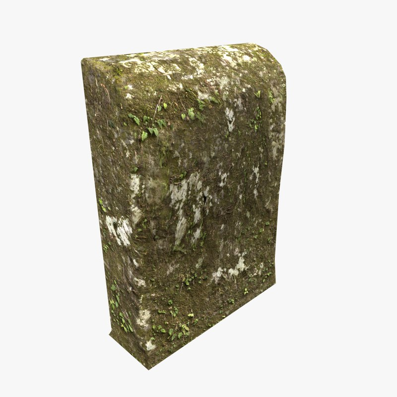 3D model mossy tomb