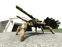 futuristic robot spider tank 3D