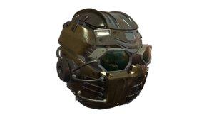 3D sci-fi helmet model