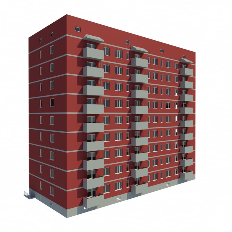 multistory building 3d dxf