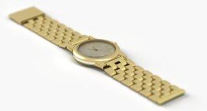 goldwatch clock time 3D model