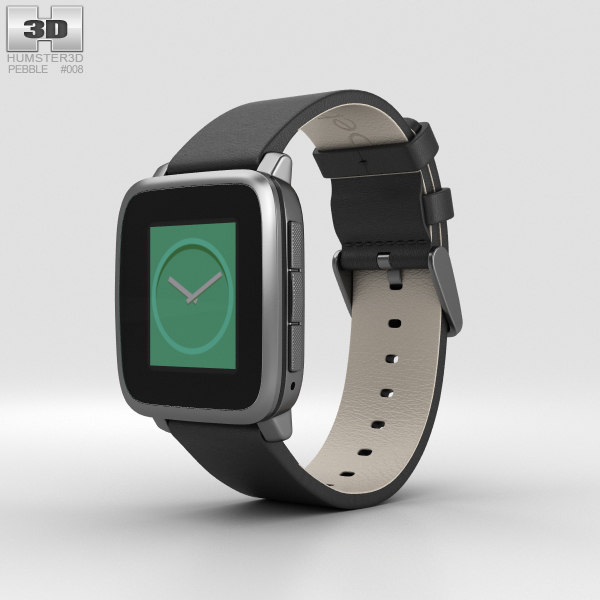 3D pebble time steel