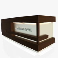 reception desk 1 3ds free