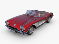Chevrolet Corvette C1 Red