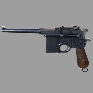 mauser c96 3d model