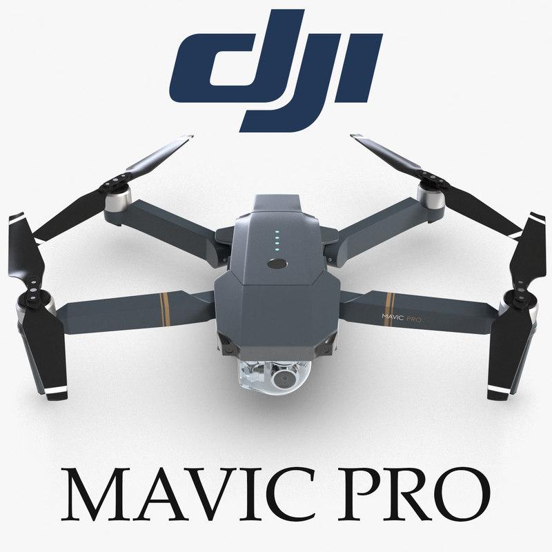 quadcopter dji mavic pro 4 3d model