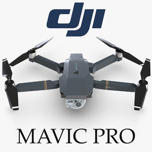 quadcopter dji mavic pro 4 3d model