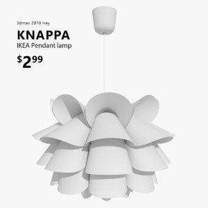 3d model knappa lamp ikea