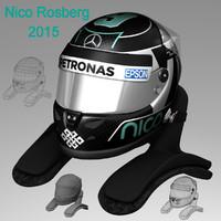 3d nico rosberg helmet 2015