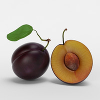 realistic plum 3D model
