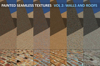 Painted Seamless Texture Set Vol 2 Walls And Roofs