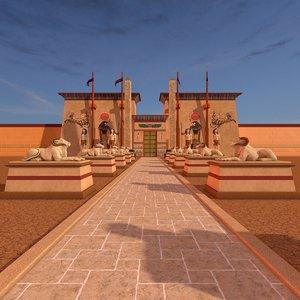 3d c4d luxor temple